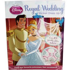 disney princess royal wedding sticker dress up by disney sticker