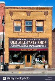 Wichita Kansas The Old Mill Tasty Shop Soda Fountain On East Douglas Avenue Stock