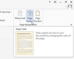 How To Change The Background Color In Word 2013 Solve Your Tech Pages Background Color