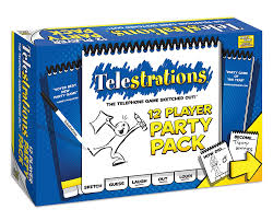 telestrations 12 player party pack usa brand usaopoly
