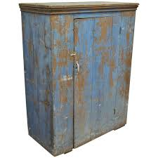 Jelly Cabinet With Glass Doors Antique Blue Distress Painted Pa Rustic Primitive Jelly Cupboard