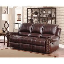 Top Grain Leather Reclining Sofa Abbyson Broadway Top Grain Leather Reclining 3 Living Room