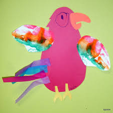 tippytoe crafts pretty parrots