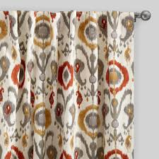 Colorful Patterned Curtains 19 Ikat Curtain Panels Circle Curtain Panels In Orange And
