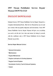 1997 nissan pathfinder service repair manual download