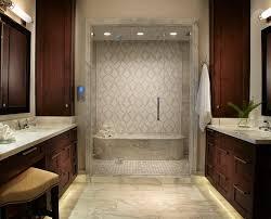 tampa kohler steam shower bathroom tropical with glass door pink