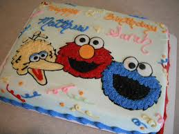 sesame street birthday 1 2 sheet cake with big bird elmo and