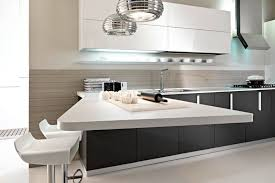 kitchen countertop materials white exposed brick tile wall black