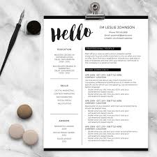 Resume Template For Mac Pages Resume Template For Ms Word And Pages Hello 1 U0026 2 Page