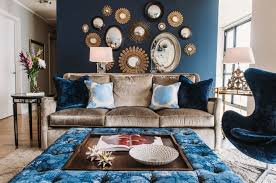 living room chair and ottoman velvet blue ottoman coffee table ideas for luxury living room design