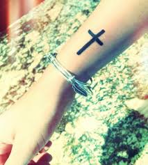 cross on side of wrist play with fashion
