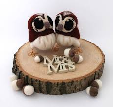 owl wedding cake topper needle felted owl wedding cake topper by feltmeupdesigns