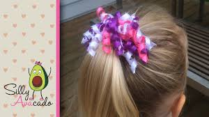hair ribbon how to make a curly ribbon hair bow easy diy girl hair bow craft