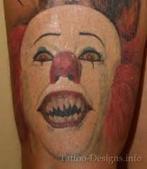 scary evil clown face tattoo design tattoos book 65 000