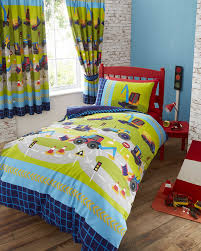 kids club diggers duvet cover set double to enlarge