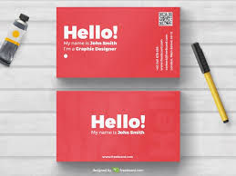 Photo Business Card Template Red Business Card Template Freebcard