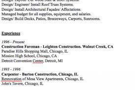 Construction Foreman Resume Examples by Pipe Foreman Resume Examples Reentrycorps