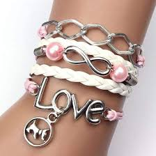 infinity love leather bracelet images Infinity love dog leather bracelet pet kisses jpg