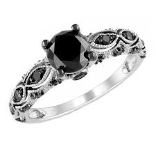 black rings women images Black gold engagement rings for women for classic wedding jpg