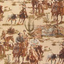 Western Drapery Fabric Cowboy U0026 Western Drapery Craft Fabrics Ebay