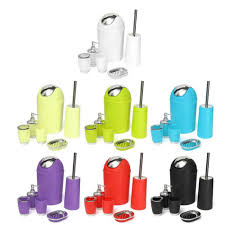6pcs bathroom accessory bin soap dish dispenser tumbler toothbrush