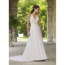 halter wedding dresses a line halter v neck beaded pleated chiffon satin wedding dress