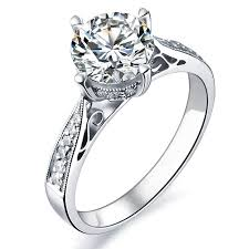 white gold engagement rings uk 1 carat certified diamond engagement ring on 9ct white gold