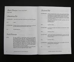 order wedding programs online inside of white wedding ceremony books order of service books