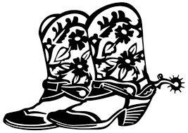 printable cowboy boot clipart clipartix