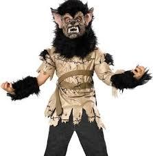 kids halloween childrens boys costumes werewolf rabid dog thriller
