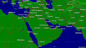 Map Middle East by Primap National Maps