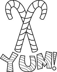 free printable candy canes coloring page for kids 2