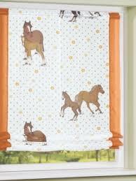 raffrollo design kinderzimmervorhang zarter raffrollo mit süßen pferde design