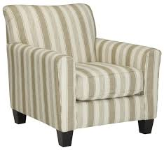 How To Reupholster Accent Living Room Chair Benchcraft Laryn Accent Chair With Neutral Stripe Fabric Wayside
