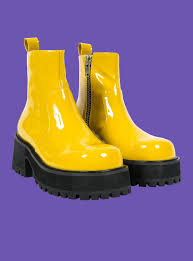 yellow boots s unif dada boot yellow