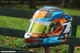 custom motocross helmet painting the high art world of custom helmet design speedhunters