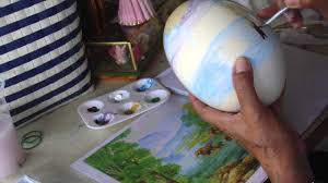 painted ostrich eggs ออมม พาเท ยว ostrich egg painting thailand ไข นกกระจอกเทศ
