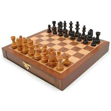 amazon com inlaid walnut style magnetized wood chess set with