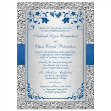 royal blue and silver wedding invitations siudy net