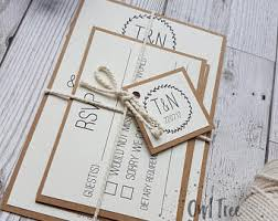 cheap wedding invitations packs kraft wedding etsy