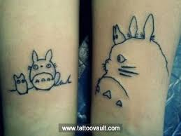 cute childhood anime tattoo idea on legs projects to try