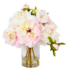 peony arrangement faux pink peony arrangement reviews joss