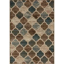 Modern Pattern Rugs by Cozumel Moroccan Pattern Rug Beige Brown Kalora Interiors Inc