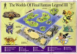 Final Fantasy World Map by The Game Boy Database Final Fantasy Legend Iii