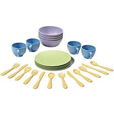 green toys dish set toys