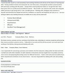 sample resume waitress haadyaooverbayresort com