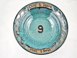 ninth anniversary gift personalized 9th anniversary gift pottery ninth anniversary
