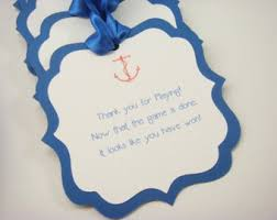 Baby Shower Favor Messages - nautical baby shower message in a bottle sign and text paper