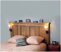 Bookcase With Doors Plans by Headboard With Shelves King Image Of Old Door Headboard Headboard