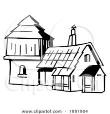 old fashioned house clipart outline of an old fashioned house royalty free vector